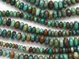 Turquoise Graduated Rondelle Beads 4-10mm (TUR1357)