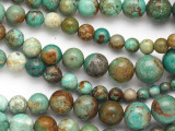 Turquoise Graduated Round Beads 5-14mm (TUR1359)