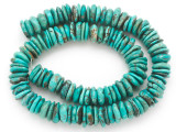 Turquoise Irregular Disc Beads 11-13mm (TUR1397)