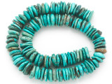 Turquoise Irregular Disc Beads 12-14mm (TUR1400)