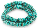 Turquoise Irregular Disc Beads 11-13mm (TUR1402)