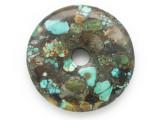 Turquoise Donut Pendant 48mm (TUR1381)