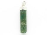 Sterling Silver & Moss Agate Pendant 39mm (GSP2430)