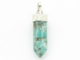 Sterling Silver & Amazonite Pendant 32mm (GSP2439)