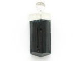 Sterling Silver & Black Tourmaline Pendant 31mm (GSP2441)