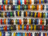 Multi-Color Disc Recycled Glass Beads 10-14mm - Africa (RG677)
