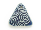 Blue Triangle Glazed Ceramic Pendant 34mm (AP2091)