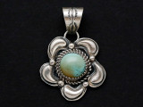 Sterling Silver & Turquoise Southwestern Pendant 32mm (AP2068)