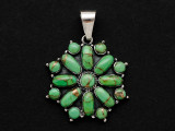 Sterling Silver & Turquoise Southwestern Pendant 33mm (AP2078)