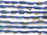 Blue Afghan Roman Glass Beads 5-18mm (AF1877)
