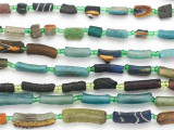Assorted Afghan Roman Glass Beads 4-16mm (AF1880)