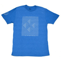 Save The Waves Ripple T-Shirt - Heather Blue