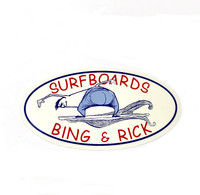 Bing and Rick Surfboards Sticker