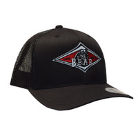 Bear Mesh Back Hat - Black