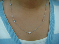 "1 CARAT T.W. ""DIAMONDS BY THE YARD"" LARGE DIAMONDS NECKLACE 5 STATIONS"