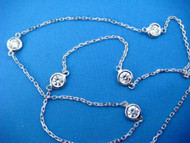 1 CARAT T.W. DIAMOND BY THE YARD 5 STATION NECKLACE 18 INCHES