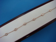 """1 CT. ROSE-PINK GOLD """"DIAMONDS BY THE YARD"""" 7 STATIONS 7 INCHES ADJUSTABLE"""