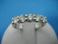 1 CT T.W. Shared Prongs Low Set Diamonds Wedding-Anniversary Ring.