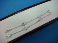 "1 Carat T.W. ""Diamond By The Yard"" 5 Stations Bracelet, Large Diamonds."