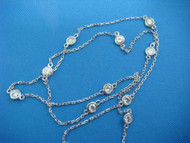 """1.05 CT """"Diamonds by the Yard"""" 10 Stations Necklace"""