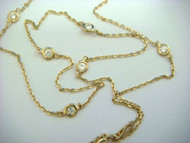"""""""Diamonds by the Yard"""" 7 Station Yellow Gold Necklace"""