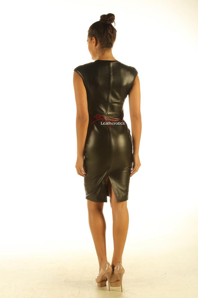 Black leather dress pic 2
