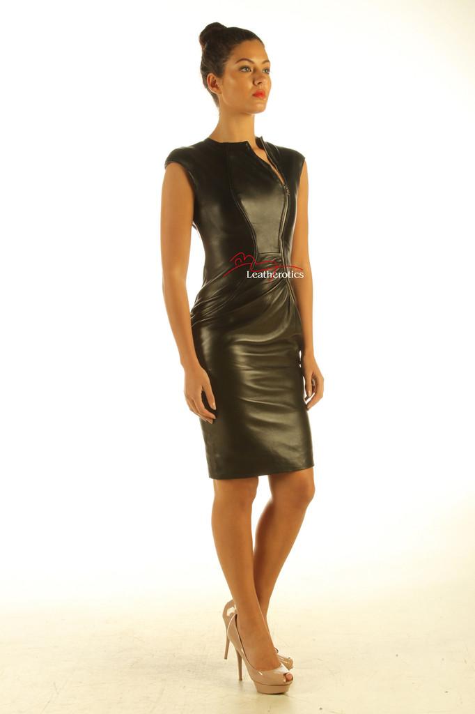 Black leather dress pic 1