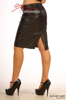 Luxury Real Leather Women's Pencil Skirt