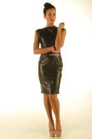 Black leather dress pic 3