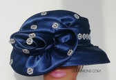 Jeweled Navy with Large Matching Bow