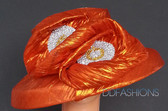 Classic Cloche ladies hat on sale with Large Double Jeweled Bow