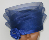 ddfashions - Pill Box Hat with Meshed Layered Crown