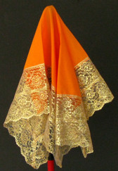 Beautiful Orange Handkerchief With Gold Borders