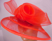 Attractive Ladies Red Hat, newly designed, transparent bow