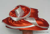 Red Ladies Hat with White Trimmings