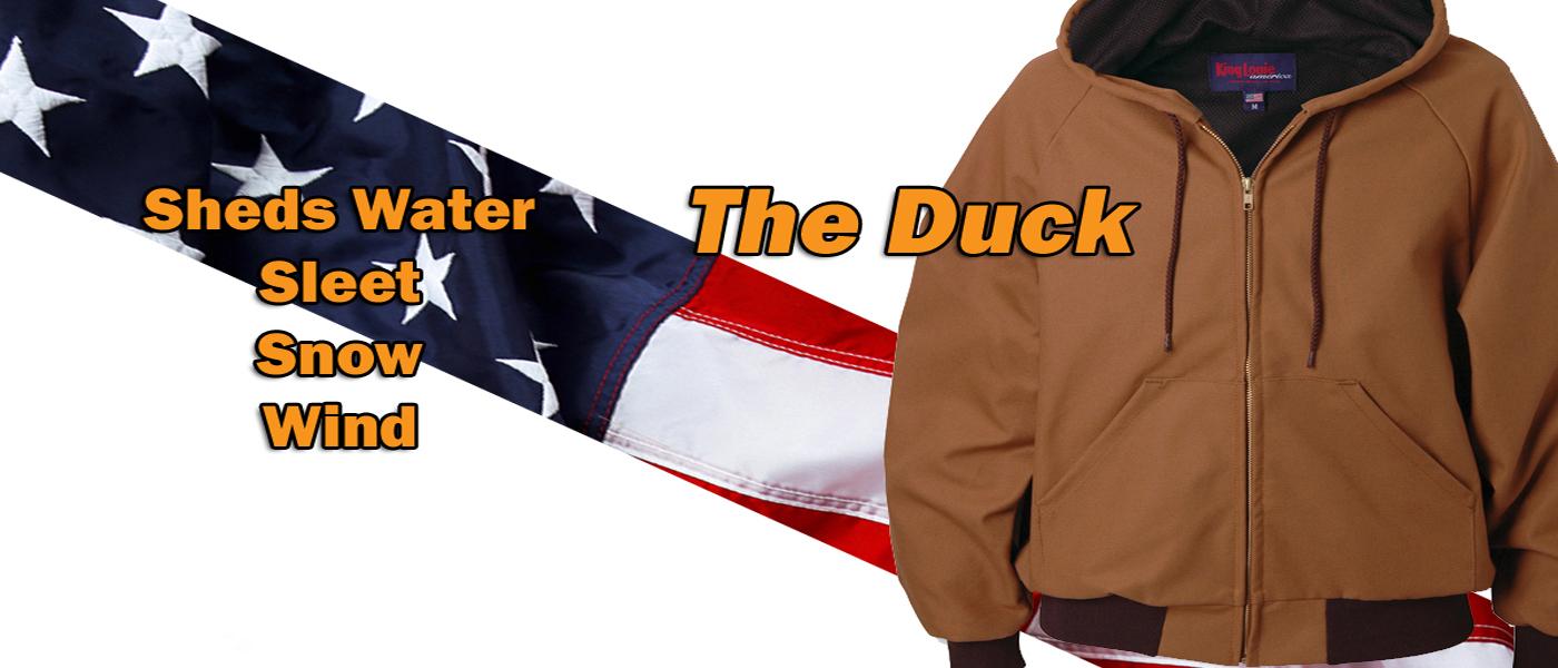 Hooded Duck Jacket, Hunting Jacket