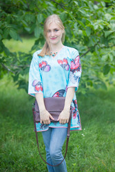 """Glam Tunics"" kaftan Top in Butterfly Baby pattern"