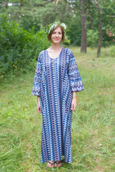 """The Unwind"" kaftan in Geometrica pattern"
