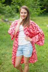 """Free Bird"" Kimono jacket in Chevron pattern"