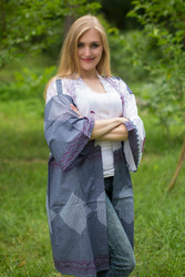 """Free Bird"" Kimono jacket in Perfectly Paisley pattern"
