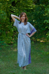 """Mademoiselle"" kaftan in Geometric Chevron pattern"