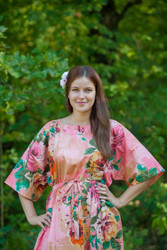 """Mademoiselle"" kaftan in Large Floral Blossom pattern"