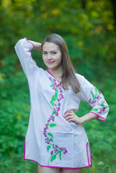"""Sun and Sand"" Beach Tunic in Climbing Vines pattern"