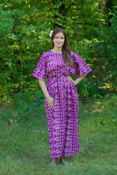 """Mademoiselle"" kaftan in Tribal Aztec pattern"