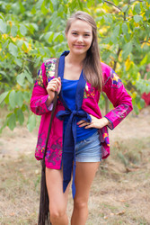 """""""Bow and Me"""" Kimono jacket in Big Butterfly pattern"""