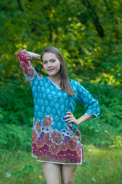 """""""Sun and Sand"""" Beach Tunic in Floral Bordered pattern"""