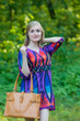 """Sun and Sand"" Beach Tunic in Glowing Flame  pattern"