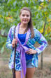 """""""Bow and Me"""" Kimono jacket in Ikat Aztec pattern"""