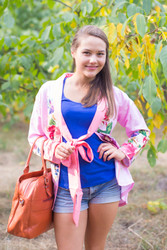"""""""Bow and Me"""" Kimono jacket in One Long Flower pattern"""
