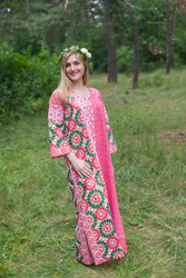 """The Unwind"" kaftan in Round and Round pattern"